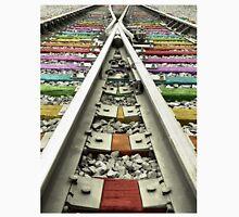 Rainbow Train Track  Unisex T-Shirt