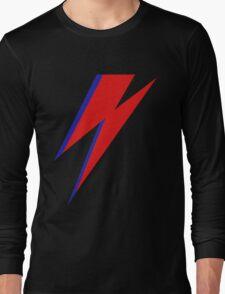 DAVID BOWIE LIGHTENING Long Sleeve T-Shirt