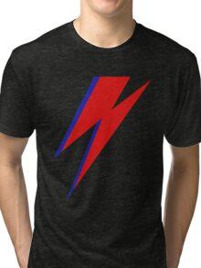 DAVID BOWIE LIGHTENING Tri-blend T-Shirt
