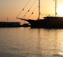 Mediterranean Sunset Sticker