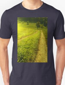 Green scenery mountains landscape with forest and road T-Shirt
