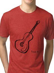 Guitar Symbol Tri-blend T-Shirt