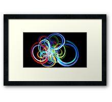 Radius Rainbow Framed Print