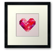 Prism Heart Framed Print