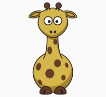 Cartoon Giraffe  Kids Tee