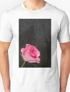 Pink Rose on a Slate Background T-Shirt