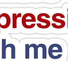 best font ever ( helvetica) Sticker