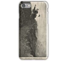 Sherlock Holmes and Professor Moriarty at the Reichenbach Falls iPhone Case/Skin