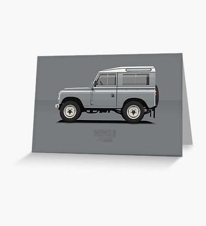 Series 3 Station Wagon 88 Mid Grey Greeting Card