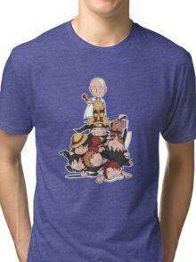 New Anime Hero - Saitama Tri-blend T-Shirt