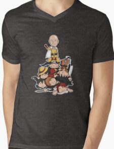 New Anime Hero - Saitama Mens V-Neck T-Shirt