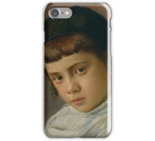 Portrait of a Young Boy with Peyot by Isidor Kaufmann. iPhone Case/Skin