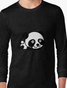 Cute Cartoon Baby Panda Long Sleeve T-Shirt