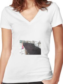 The First Date Women's Fitted V-Neck T-Shirt
