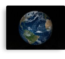 Earth with clouds and sea ice from December 8, 2008. Canvas Print