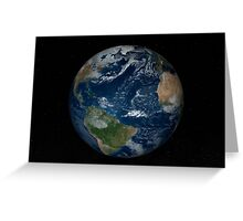 Earth with clouds and sea ice from December 8, 2008. Greeting Card