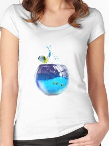 aquarium Women's Fitted Scoop T-Shirt