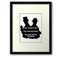 Sherlock  the abominable bride Framed Print