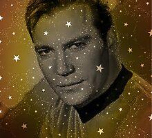 William Shatner as Captain Kirk by esotericaart