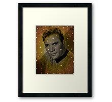 William Shatner as Captain Kirk Framed Print