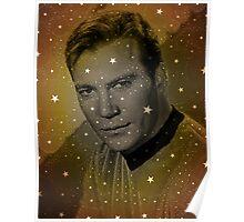William Shatner as Captain Kirk Poster