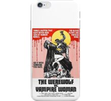 The Werewolf vs. Vampire Woman iPhone Case/Skin