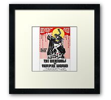 The Werewolf vs. Vampire Woman Framed Print