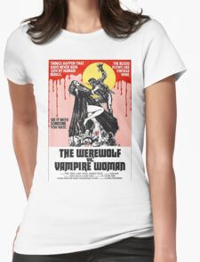 The Werewolf vs. Vampire Woman Womens Fitted T-Shirt