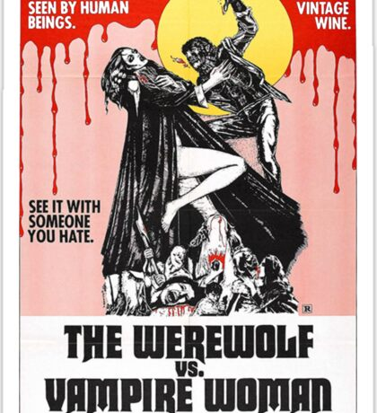 The Werewolf vs. Vampire Woman Sticker