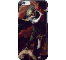 Claudio Coello - Saint Michael the Archangel. iPhone Case/Skin