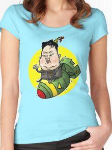Kim Jong-FUN Women's Fitted Scoop T-Shirt