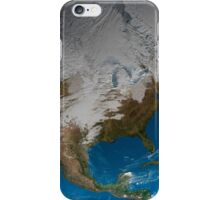 Full Earth showing simulated clouds over North America. iPhone Case/Skin