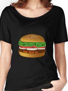 Cartoon Hamburger Women's Relaxed Fit T-Shirt