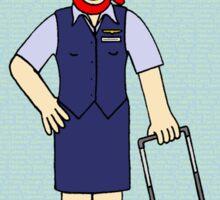 Flight attendant Congratulations. Sticker
