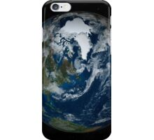 Earth with clouds and sea ice from September 15, 2008. iPhone Case/Skin