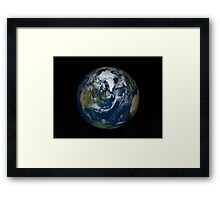 Earth with clouds and sea ice from September 15, 2008. Framed Print