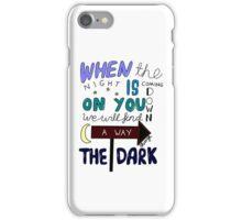 One Direction Through The Dark Lyrics in colour iPhone Case/Skin