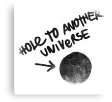 Hole to another Universe vintage Canvas Print
