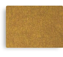 Tan Crackle Canvas Print