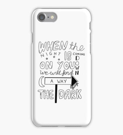One Direction Through The Dark Lyrics iPhone Case/Skin