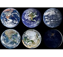 Image comparison of iconic views of planet Earth. Photographic Print