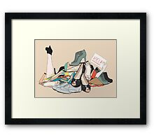 Shoe Mountain Framed Print