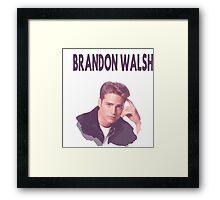 90210- bRANDON wALSH Framed Print