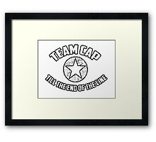 Team Cap Framed Print