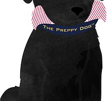 Cute Preppy Black Lab Puppy Dog by emrdesigns