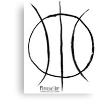 Basketball Symbol Canvas Print