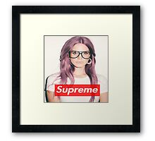Supreme Lana del Ray Framed Print