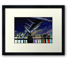 MILENNIUM BRIDGE AT NIGHT LONDON Framed Print
