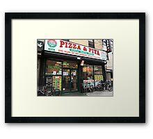 New York City Pizza Framed Print