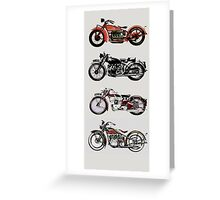VINTAGE MOTORCYCLES Greeting Card